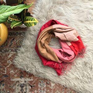 Gap Pink and Tan Color Block Scarf